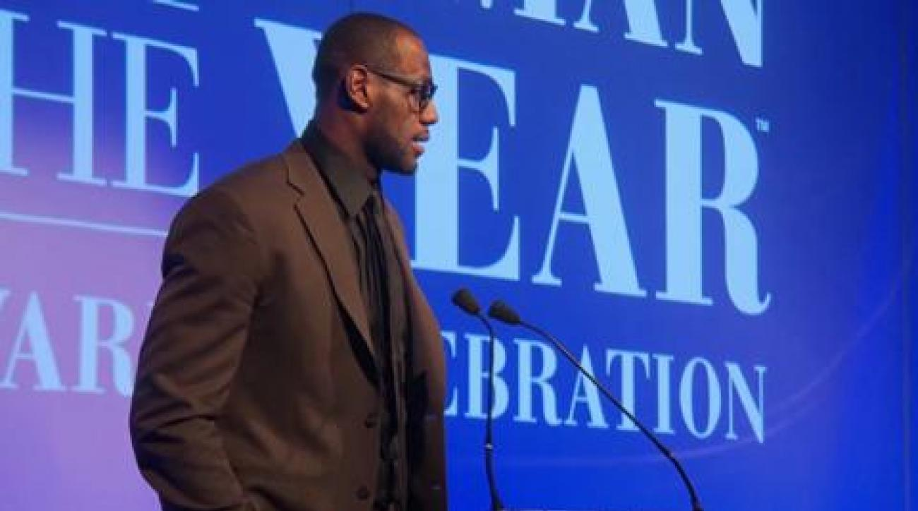 Sportsman 2012: LeBron James Accepts Sportsman of the Year Award
