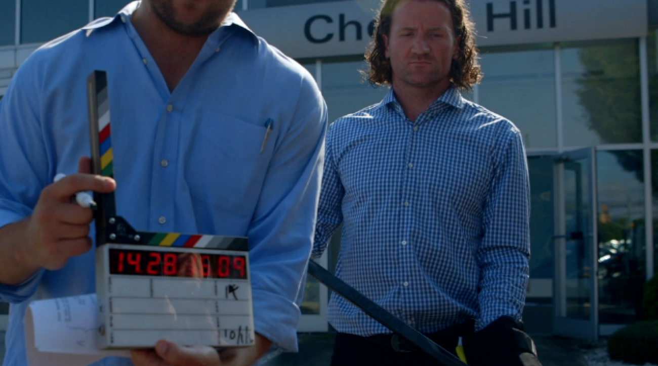 Behind the scenes: Scott Hartnell's car commercial