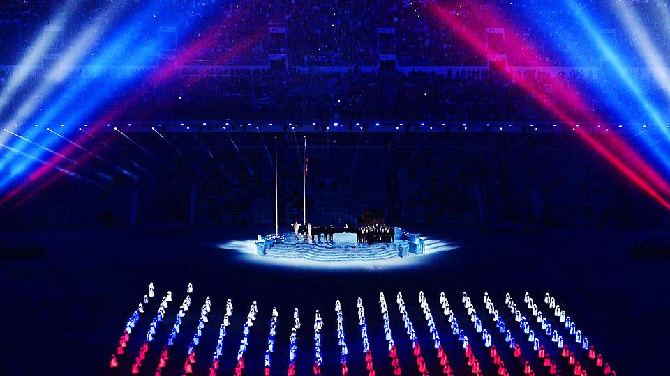 From performers wearing the lights of the Russian flag to a ballet rendition of 'War and Peace,' the Opening Ceremony in Sochi was full of visual extravagance.