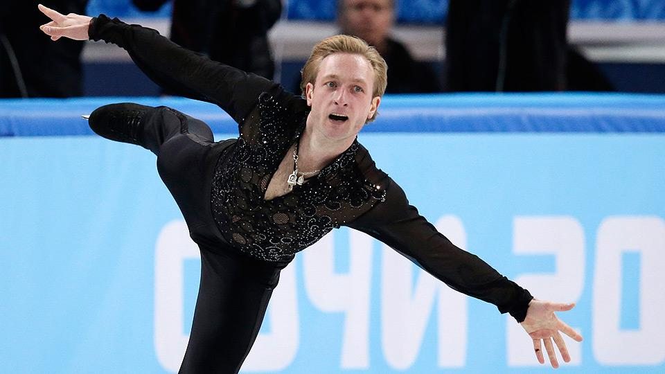 Evgeni Plushenko turned in a restrained yet effective performance for the gold medal-winning Russian team.