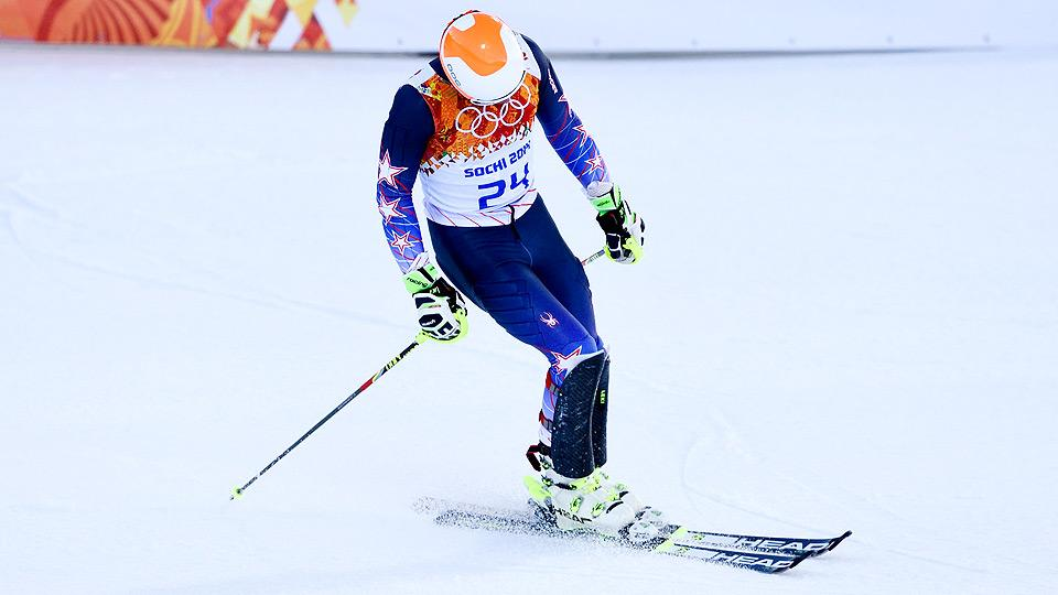 After winning gold in the super combined at the 2010 Olympics, Bode Miller struggled in the event in Sochi, finishing sixth overall.