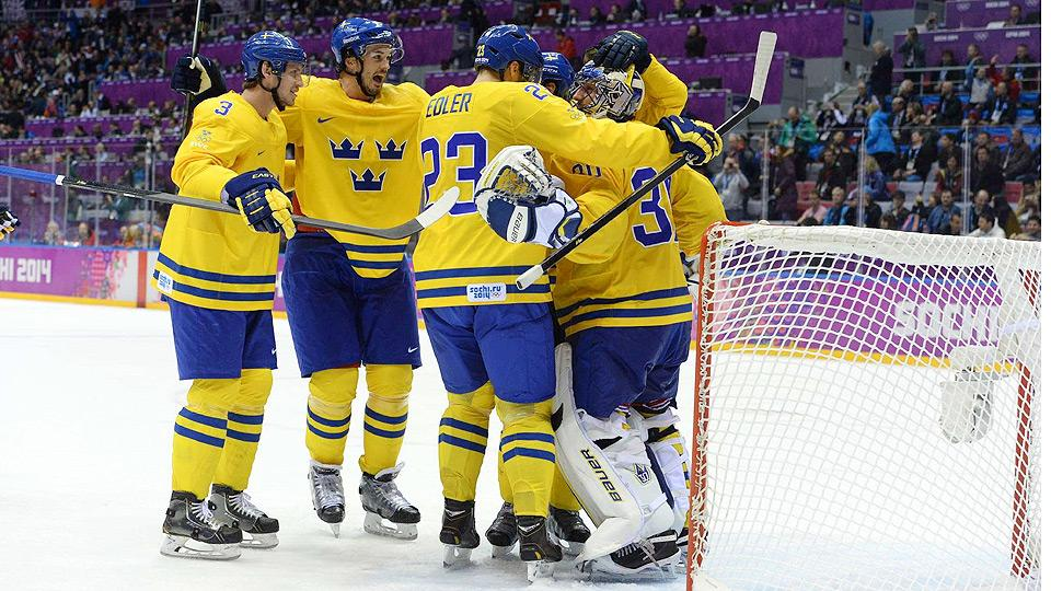 Sweden's men's ice hockey team advanced to their second gold-medal game in the last three Olympics.