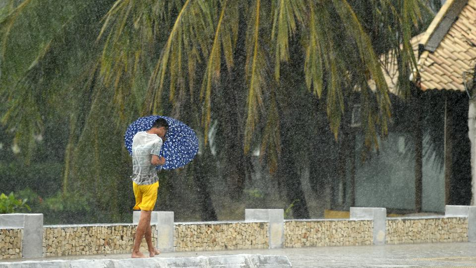 Heavy rains in World Cup host city Natal have caused officials to declare a flood warning ahead of the USA's match against Ghana.