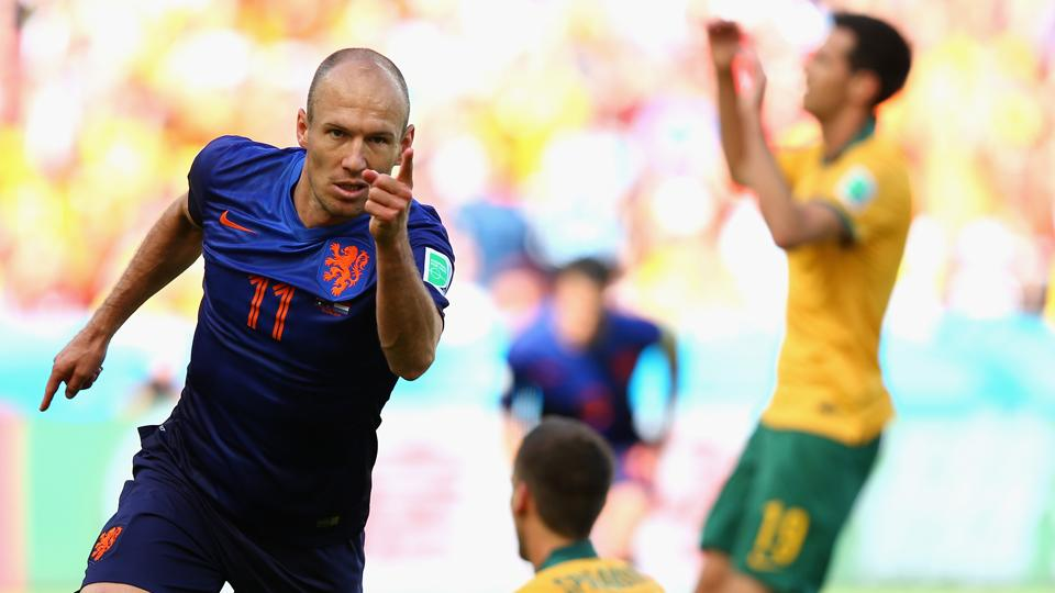 Netherlands star Arjen Robben has accounted for three goals in what has been a high-scoring start to the 2014 World Cup.