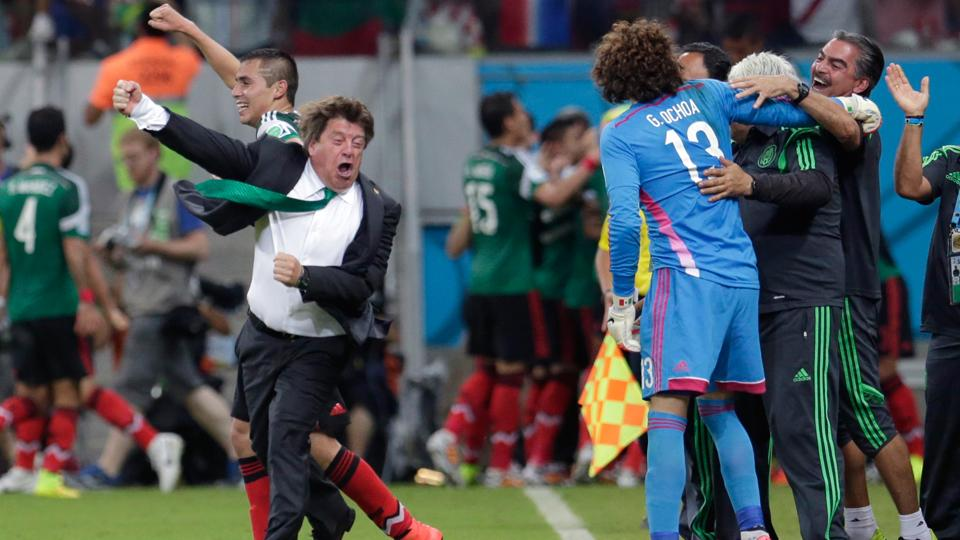 Mexico manager Miguel Herrera is not one to contain his emotions, and he put it all on display in Mexico's 3-1 win over Croatia.