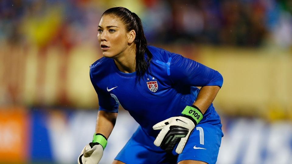 Hope Solo started in goal for the United States' gold medal runs in the 2008 and 2012 Olympics