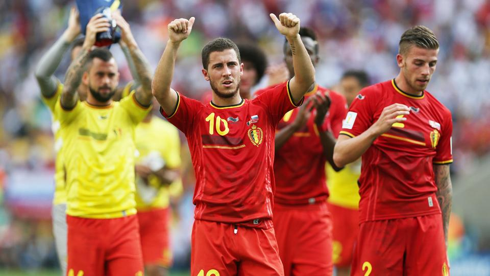 Belgium, led by Eden Hazard (10), poses a daunting challenge for the USA in the World Cup round of 16.