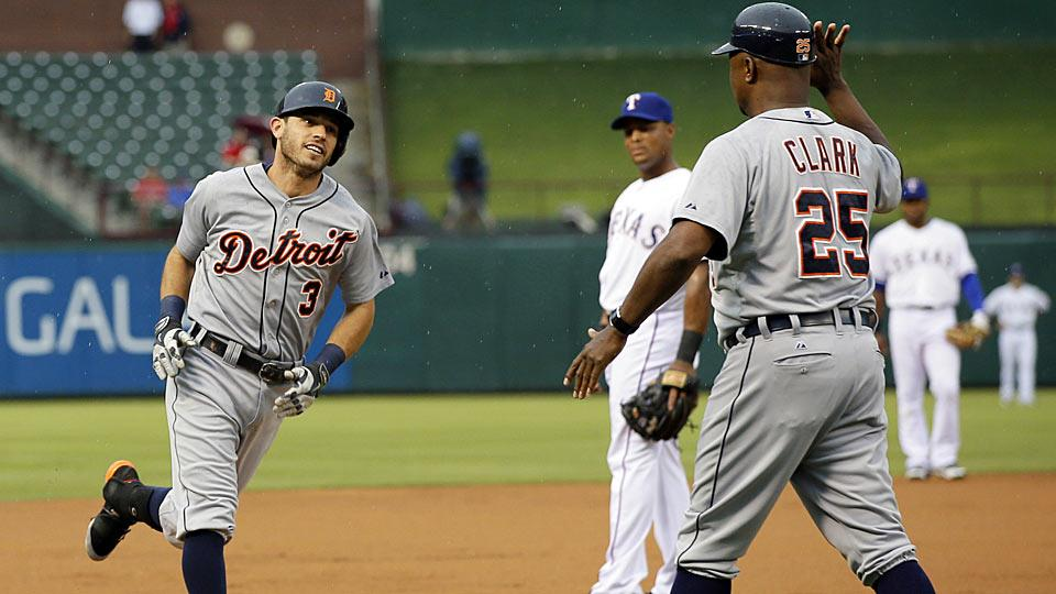 In his first appearance in Arlington since his trade to Detroit last November, Ian Kinsler led off the game with a home run and mocked his former team.