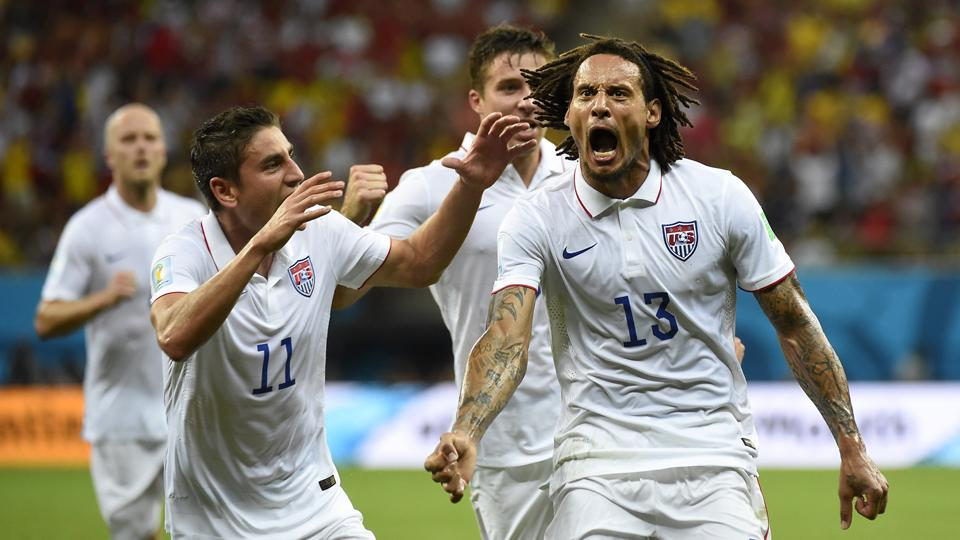Jermaine Jones (13) has played a vital role in the USA's World Cup success, answering critics who questioned his methods.
