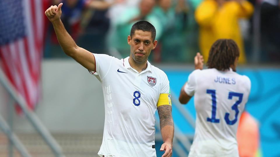 It's all thumbs up for U.S. captain Clint Dempsey, even after a 1-0 loss to Germany, as the Americans have a place in the World Cup knockout stage.