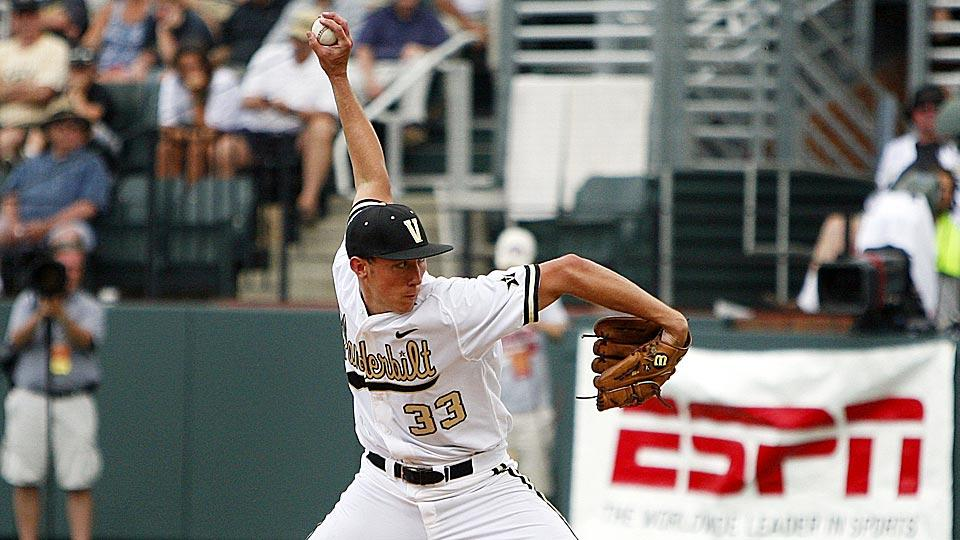 Vanderbilt pitcher Brian Miller won the College World Series Wednesday night, but had much more reason to celebrate after proposing to his girlfriend.