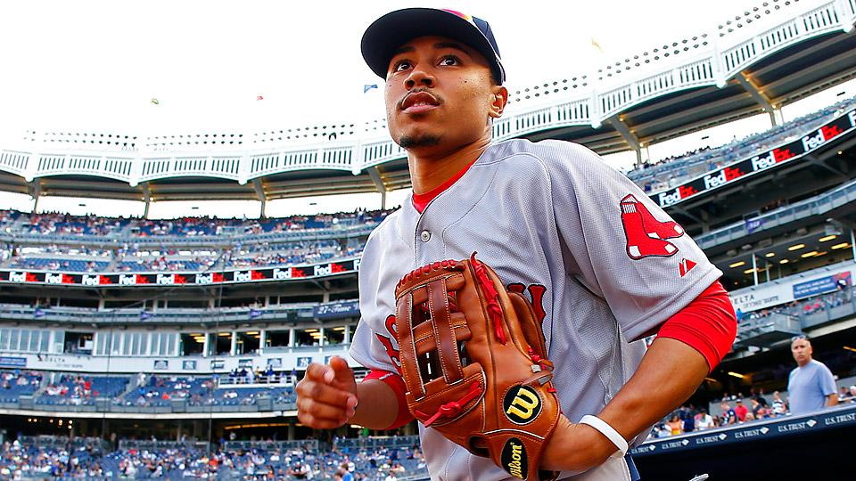 Mookie Betts, a fifth-round high school pick in the 2011 draft, came into the season ranked fifth on MLB.com's list of Boston's top prospects and eighth by Baseball Prospectus.