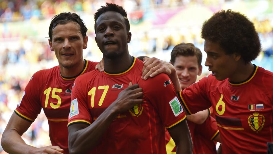 19-year-old forward Divock Origi (17) has been a surprise contributor for Belgium in its World Cup matches thus far.