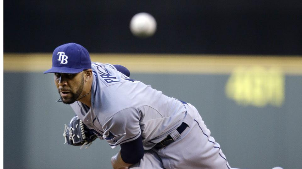 Tampa Bay Rays pitcher David Price has a 144 strikeouts and a 1.09 WHIP this season.