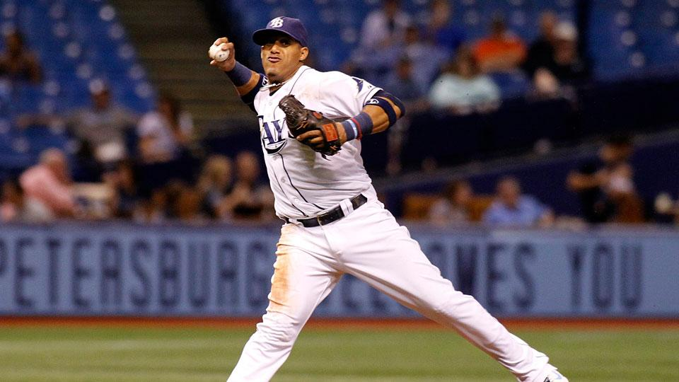 SS Yunel Escobar was placed on the 15-day disabled list