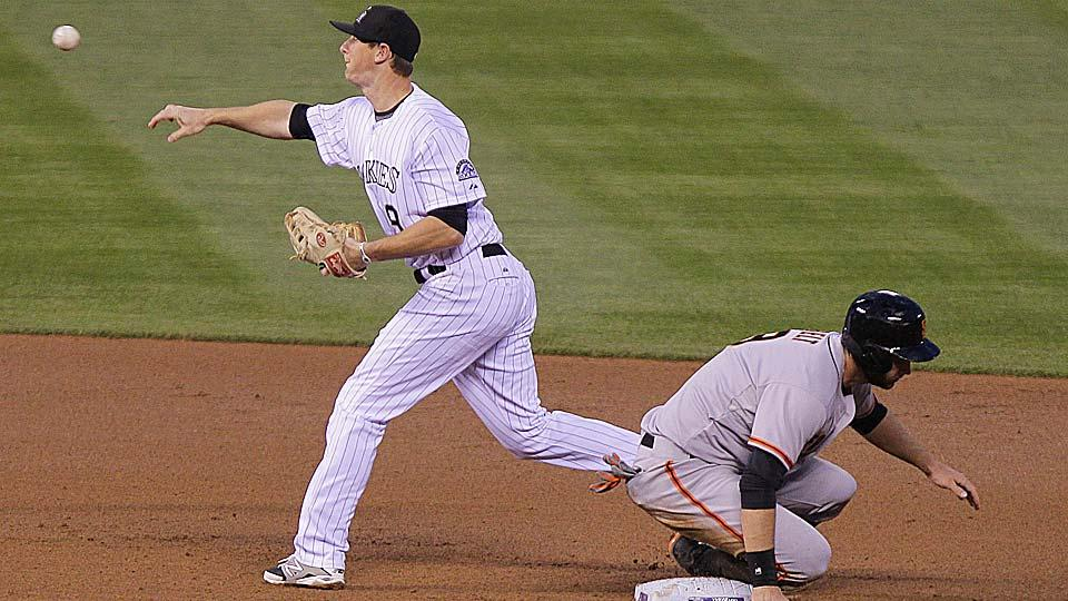 Colorado second baseman DJ LeMahieu, pictured above against the Giants in April, has been playing well paired with Troy Tulowitski in the Rockies' middle infield.