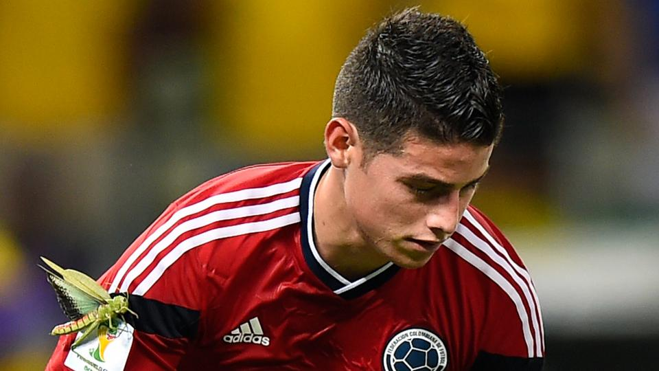 James Rodriguez and a giant bug