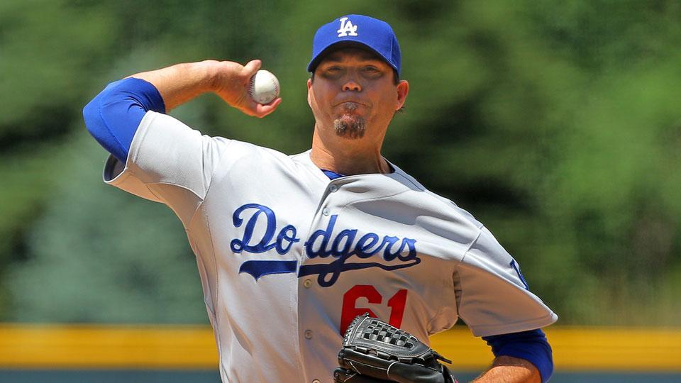 Dodgers place starter Josh Beckett on 15-day disabled list