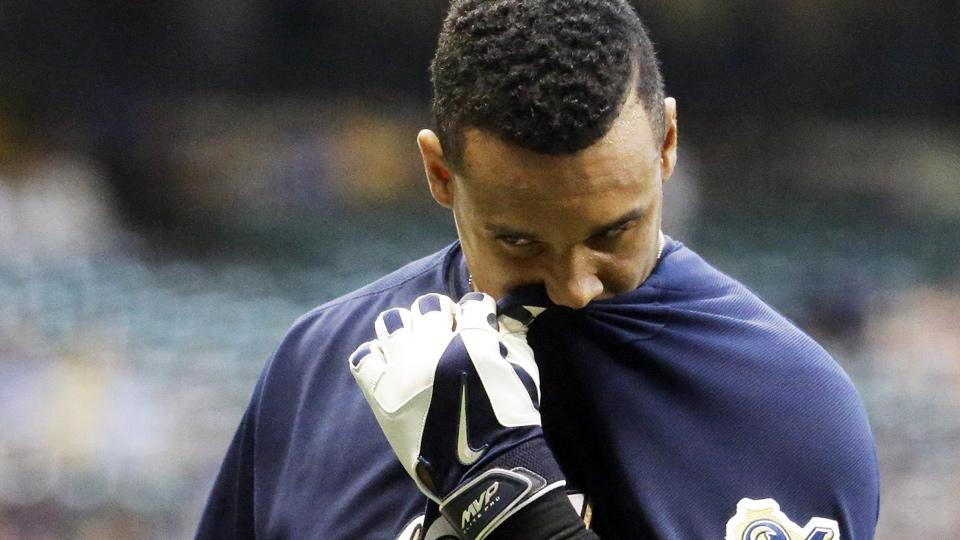 Carlos Gomez and the Brewers have lost nine of their last 10 games and have seen their lead in the NL Central shrink to just two games.