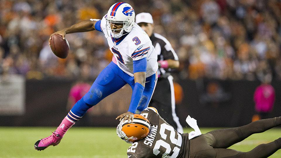 E.J. Manuel showed flashes of promise in an injury-plagued rookie season. Will he be able to get the ball to the Bills' playmakers in space in 2014?