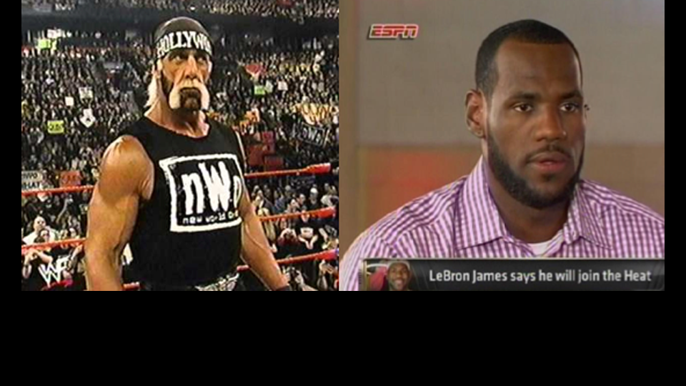 """The """"Decision"""" That Built a New World Order: How LeBron James and Hulk Hogan Legdropped Their Fans and Changed their Sports Forever"""