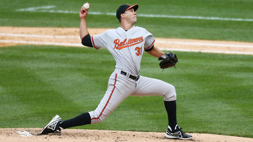 Right-hander Ubaldo Jimenez, who signed a four-year, $50-million deal in February, has struggled this season for Baltimore with an AL-leading 60 walks.