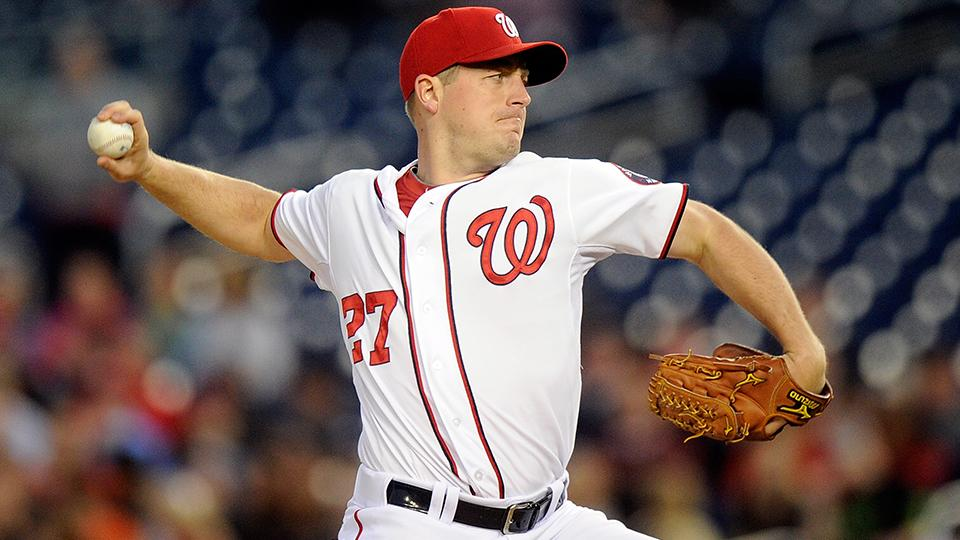 Nationals ace Jordan Zimmermann leaves game with biceps cramp