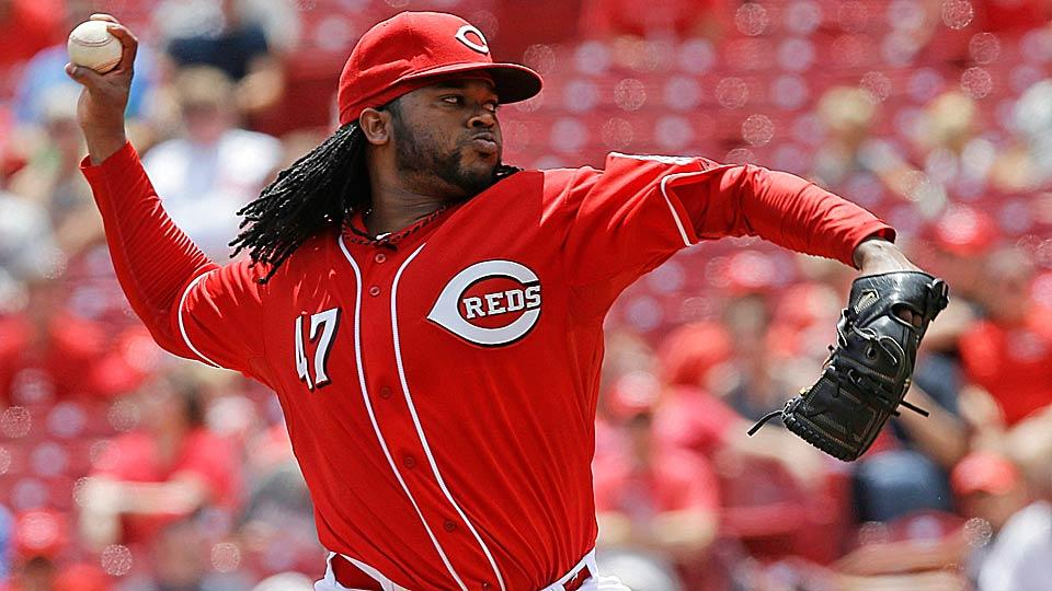 The Reds' Johnny Cueto has been outstanding throughout the first half of the season, posting a 9-6 record, a 2.03 ERA and 134 strikeouts.