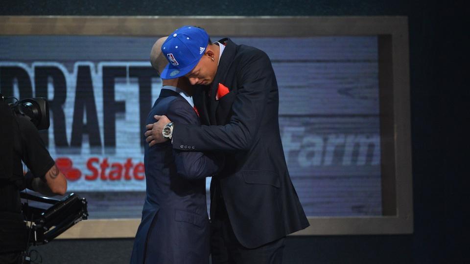 Adam Silver tells Isaiah Austin during the 2014 NBA Draft he