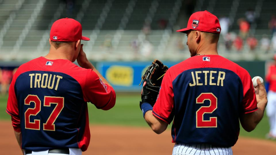 Derek Jeter, Mike Trout donate All-Star Game caps to Hall of Fame