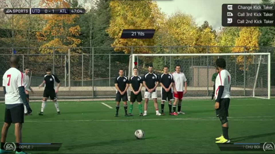 Someone at EA Sports created a real-life version of FIFA