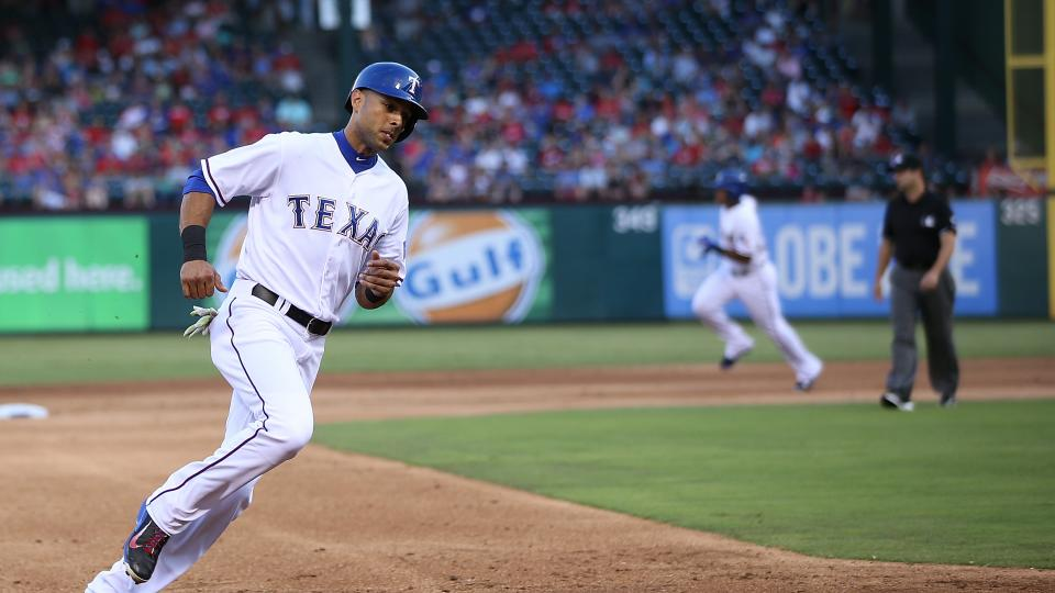 Rangers outfielder Alex Rios reportedly out at least until Tuesday