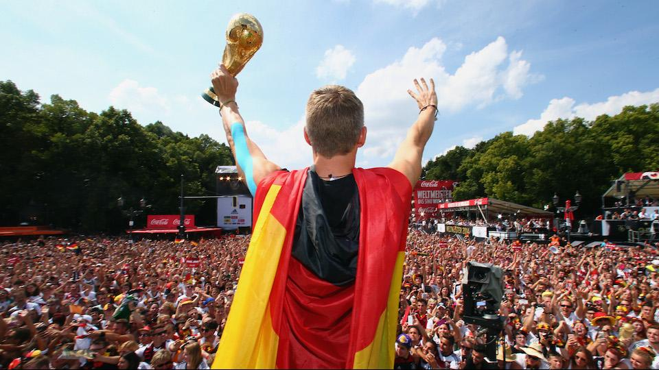 Germany damaged the World Cup trophy