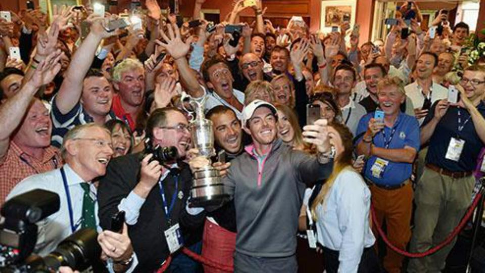 Rory McIlroy celebrates British Open win with epic selfie