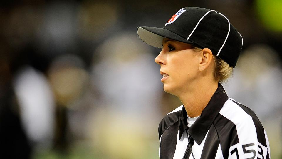Sarah Thomas (pictured) and Cat Conti have broken ground for female referees
