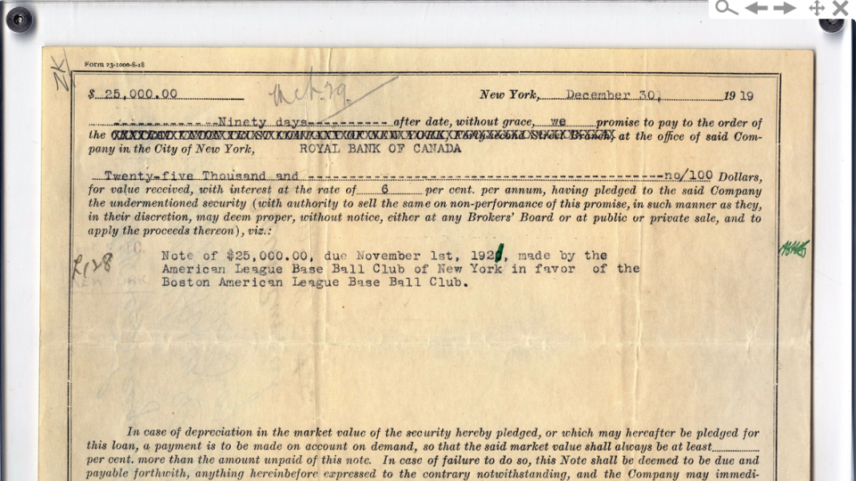Babe Ruth sale document goes for $151,250 at auction