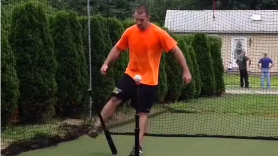 Incredible baseball bat trick swing