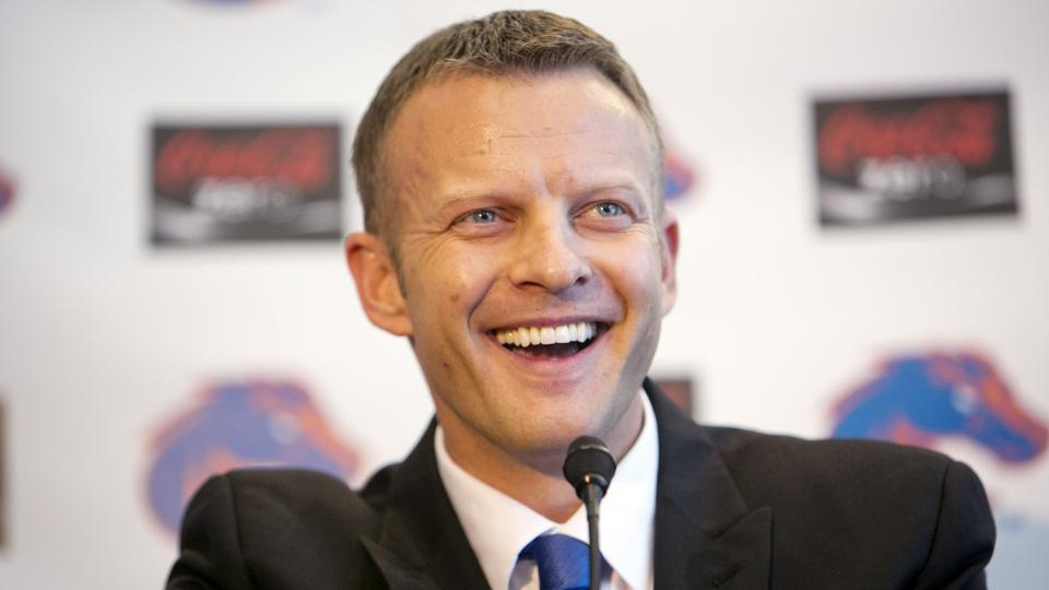 Boise State head coach Bryan Harsin explained why offensive coordinator Mike Sanford will call plays this season.