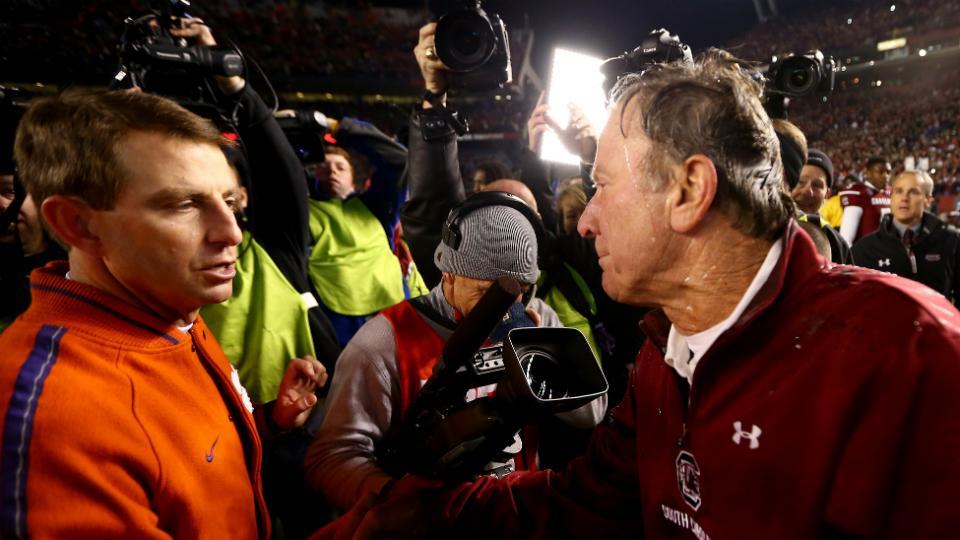 South Carolina's Steve Spurrier jabs Clemson's Dabo Swinney