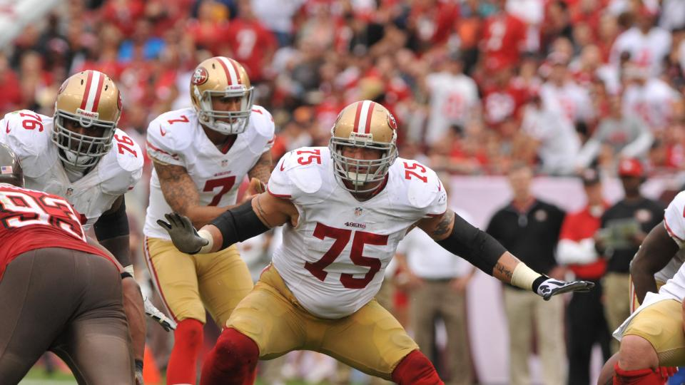 San Francisco 49ers guard Alex Boone will not report to training camp