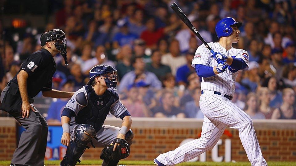 Chicago first baseman Anthony Rizzo promised a Cubs fans and cancer patient he would hit a home run for him. He did — two of them.