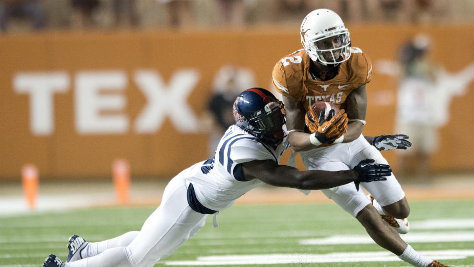 Texas wide receiver Kendall Sanders