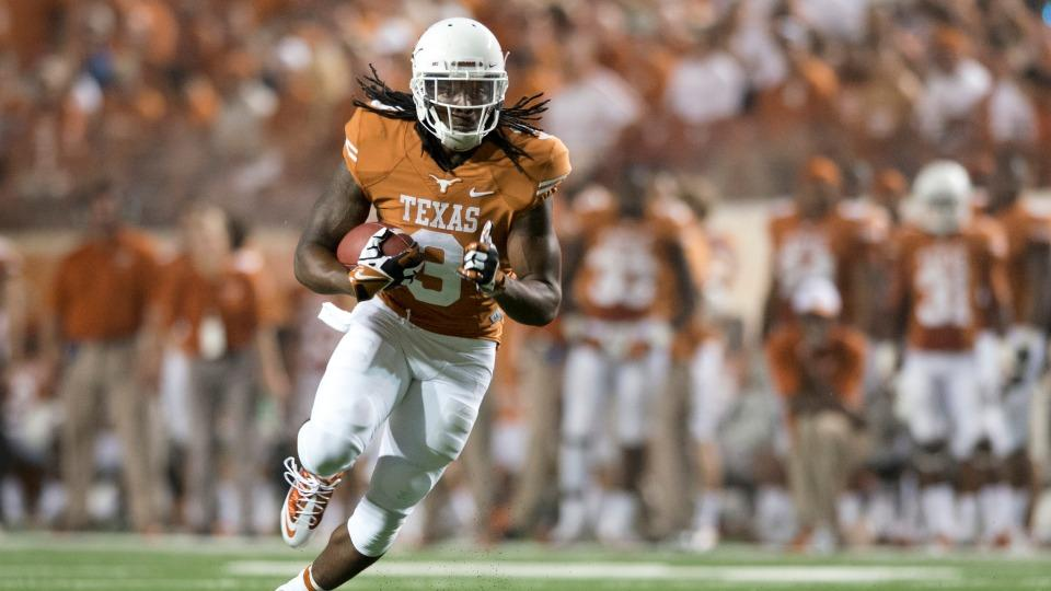 Jalen Overstreet ran for 102 yards and two touchdowns on 20 carries last season in coach Mack Brown's final year leading the Longhorns.