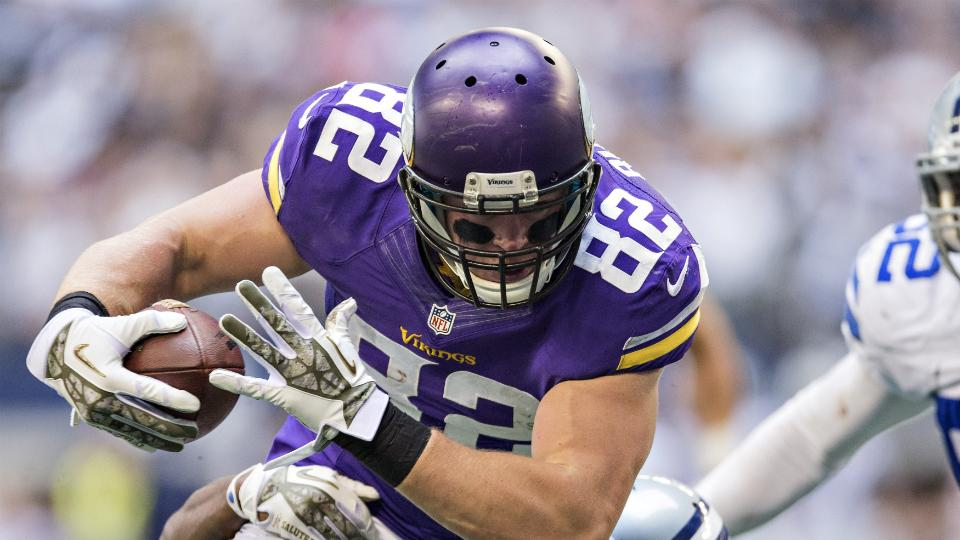 Kyle Rudolph, Vikings agree to five-year contract extension
