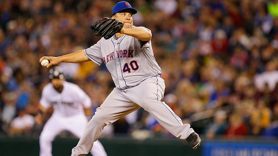 Mets pitcher Bartolo Colon has been pitching well all season and his trade value for New York is rising.