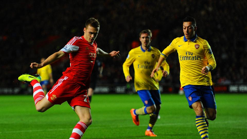 Calum Chambers previously played for Southampton before joining Arsenal.
