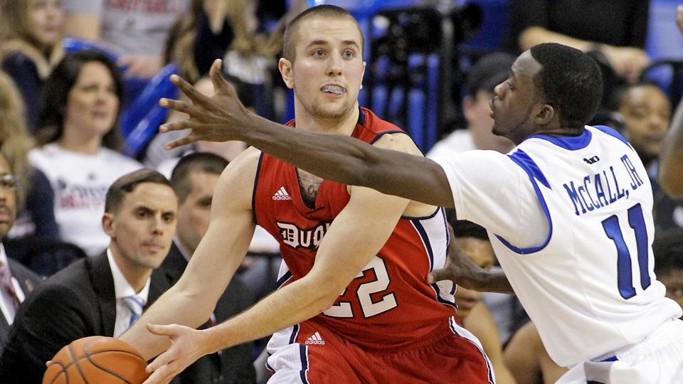 Micah Mason transferred to Duquesne after one year at Drake so that he could be closer to his family.