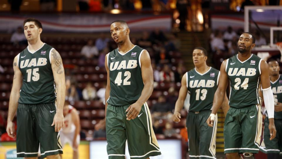 UAB guard Chad Frazier (13)