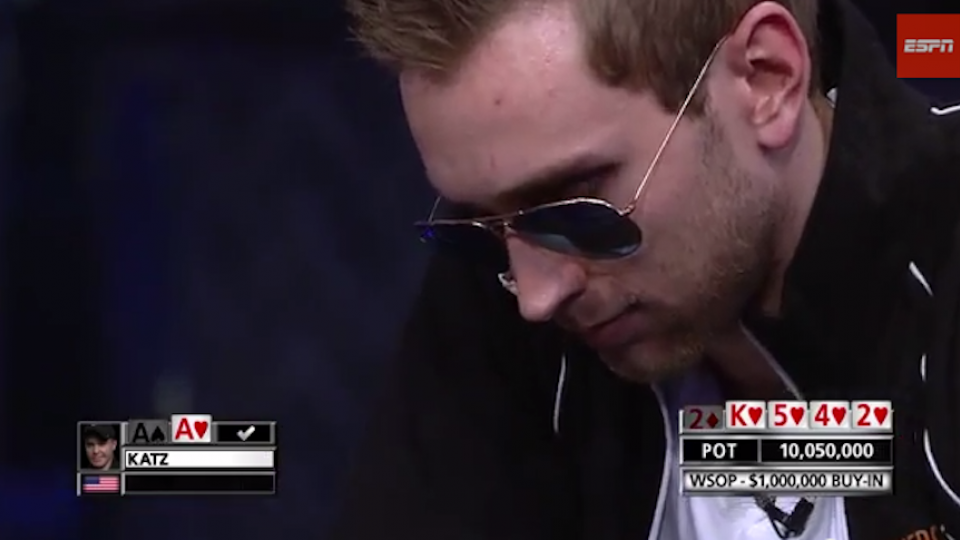 World Series Of Poker player draws pocket aces, loses $1 million