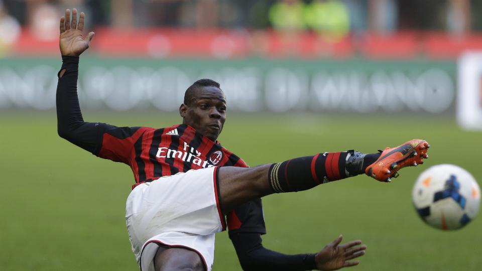 A.C. Milan striker Mario Balotelli